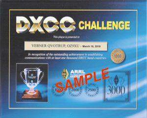 OZ9XU DXCC Challenge